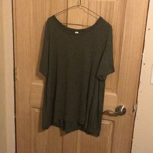 Olive luxe tee